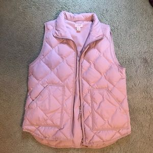Cream colored jcrew puffy vest